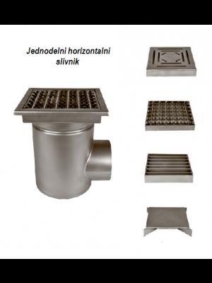 horizontalni inox slivnik za hemijsku industriju