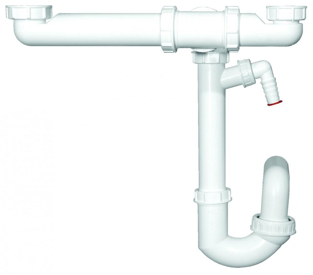 HL ugradni sifon za sudoperu dvodelni