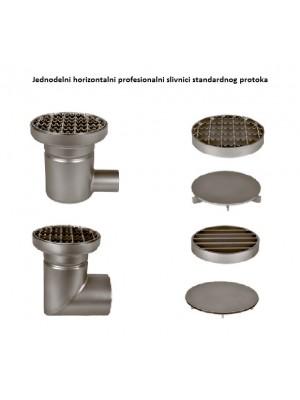 horizontalni jednodelni slivnik od inoxa za ugostiteljstvo
