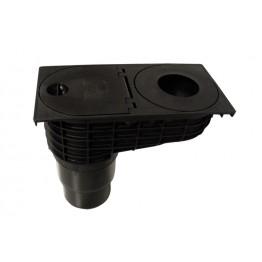 HL kišni kolektor, olučnjak, sa zatvaračem neprijatnih mirisa, plastični, DN110/125.