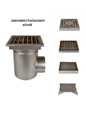jednodelni horizontalni slivnik za prehrambenu industriju