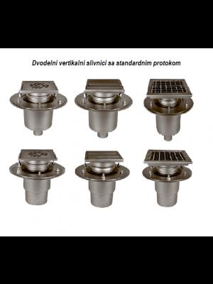 industrijski vertikalni slivnik izrađen od inoxa
