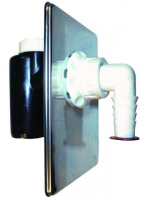 ugradni sifon sa inox poklopcem i otvorom za čišćenje